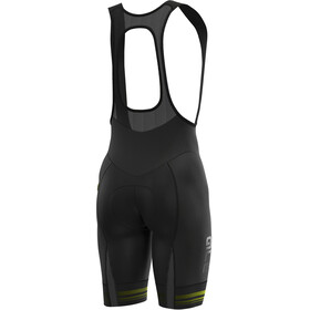 Alé Cycling Graphics PRR Slide Culotte con tirantes Hombre, black/fluo yellow